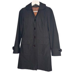 TOPSHOP Single Breasted Trench Coat Black 8